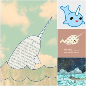 Narwhals are beautiful. They can also be very inspiring. Especially artistically!